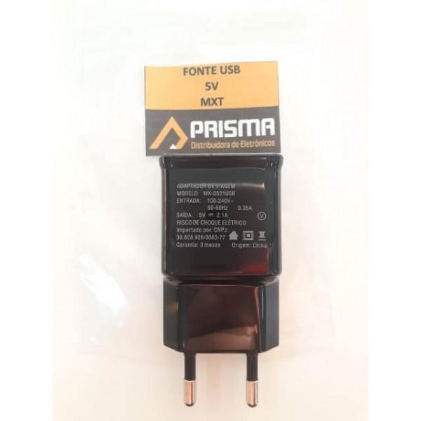 13360 - FONTE USB 5V 2.1AMP REAL MXT